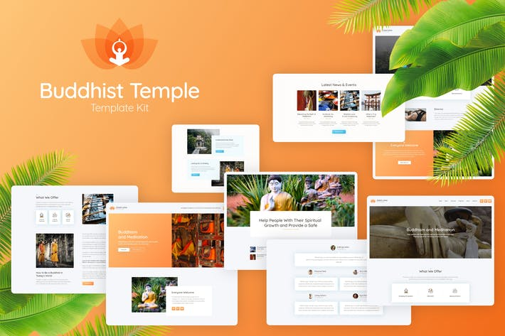 Thumbnail for Great Lotus - Buddhist Temple Template Kit