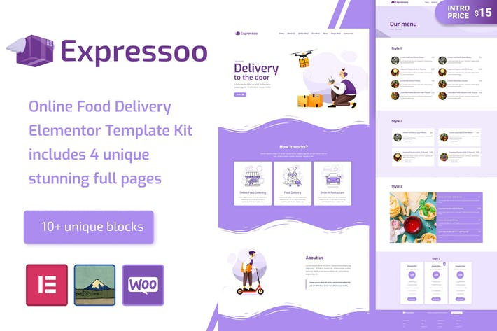 Thumbnail for Expressoo - Online Food Delivery Template Kit