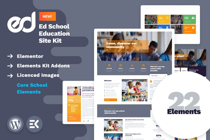 Thumbnail for EdSchool - Education Template Kit