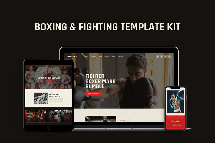 Thumbnail for Rumble - Boxing, MMA & Fighting Elementor Template Kit