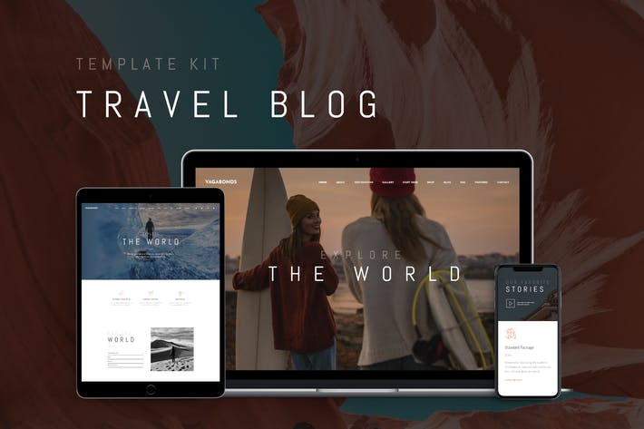 Thumbnail for Vagabonds - Travel Blog Template Kit