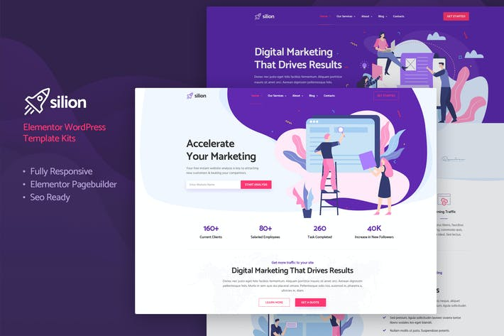 Thumbnail for Silion - Digital Marketing Elementor Template Kit