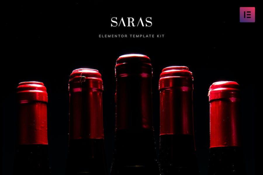 Saras - Wine Template Kit