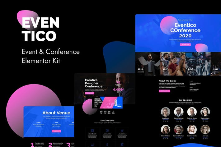 Cover Image For Eventico - Event & Conference Elementor Kit