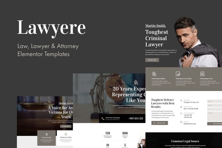 Thumbnail for Lawyere - Legal & Attorney Template Kit
