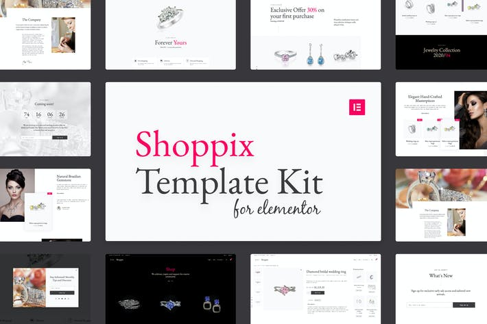 Thumbnail for Shoppix - Luxury & Jewellery Shop Elementor Template Kit