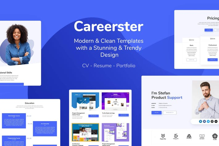 Cover Image For Careerster - CV/Resume Elementor Templates