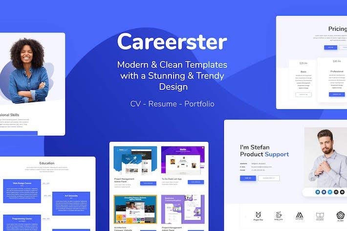 Thumbnail for Careerster - CV/Resume Elementor Templates