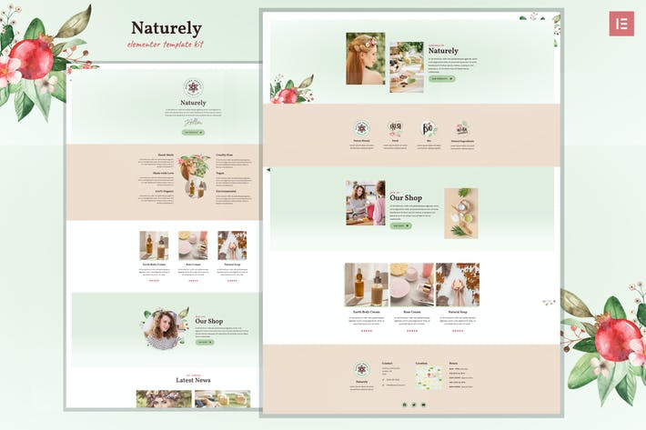 Thumbnail for Naturely - Natural Cosmetics & Beauty Template Kit
