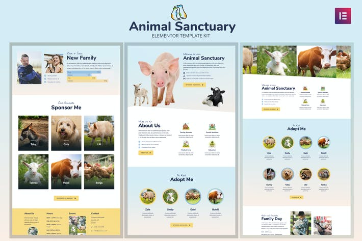 Thumbnail for Animal Sanctuary - Non-Profit Template Kit