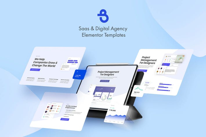 Thumbnail for Burto - Saas & Digital Agency Elementor Template Kit