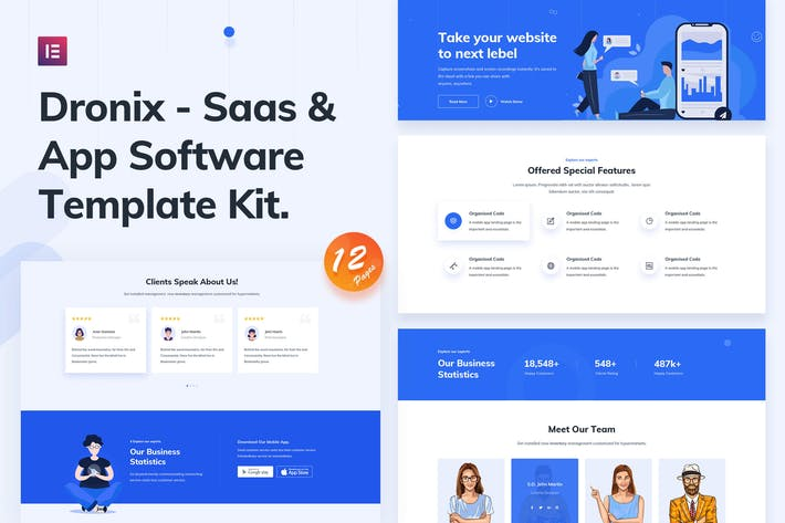 Cover Image For Dronix - SaaS & Startup Template Kit
