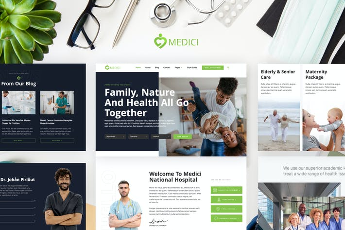 Medici - Hospital & Health Services Template Kit