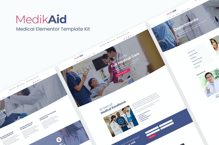 Cover Image For MedikAid | Medical Healthcare Elementor Template Kit