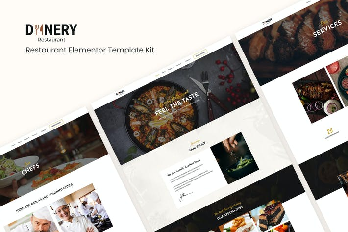 Thumbnail for Dinery | Restaurant Elementor Template Kit