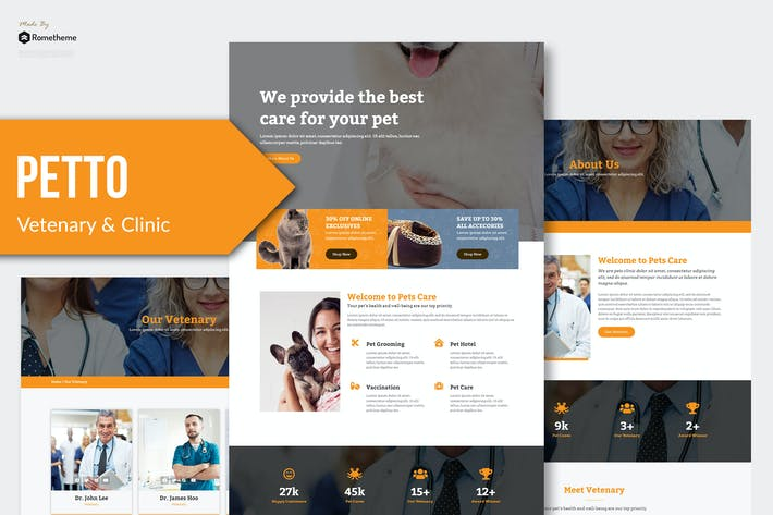 Cover Image For Petto - Vetenary Pet Clinic Template Kit