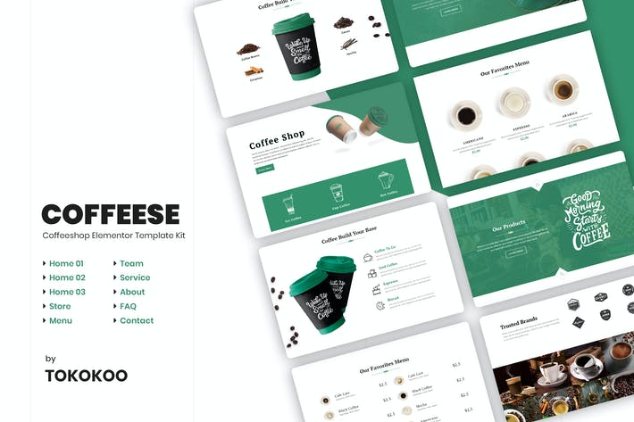 Thumbnail for Coffesse | Coffee Shop Elementor Template Kit