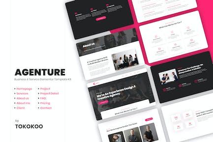 Agenture | Digital Agency & Startup Elementor Template Kit