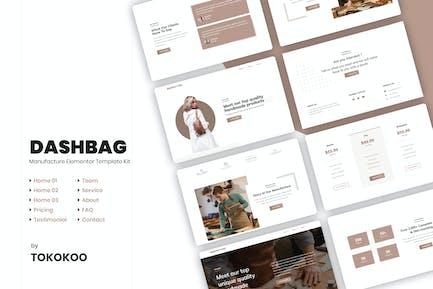 DashBag | Bags Shop & Fashion Store Elementor Template Kit