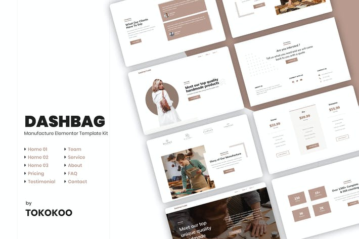 Thumbnail for DashBag | Bags Shop Elementor Template Kit