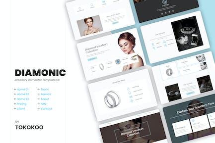 Diamonic | Joyería Elementor Template Kit
