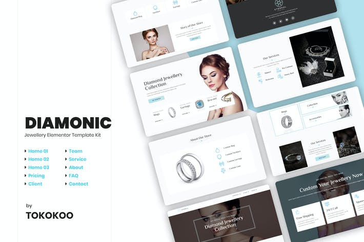 Thumbnail for Diamonic | Jewellery Elementor Template Kit