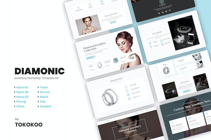 Thumbnail for Diamonic | Schmuck Elementor Vorlage -Set