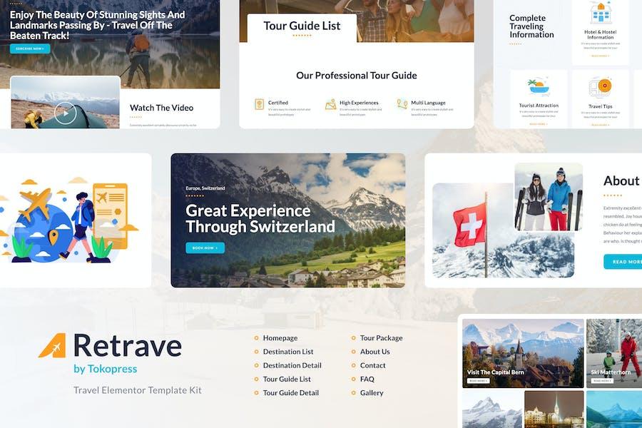 Retrave   Travel Elementor Template Kit