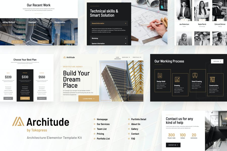 Architude | Architecture Elementor Template Kit