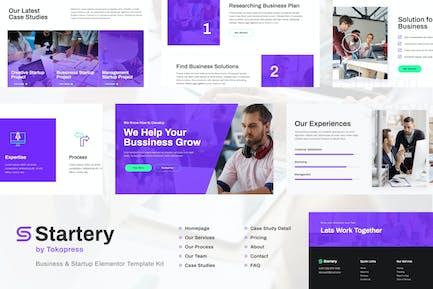 Startery   Business & Startup Elementor Template Kit