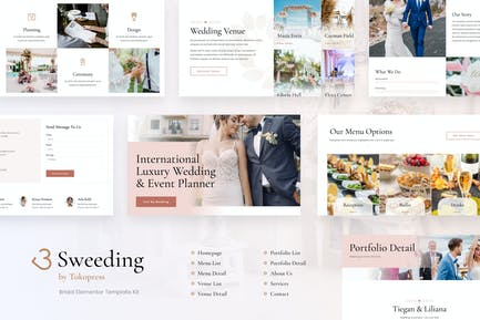 Sweeding - Wedding Elementor Template Kit