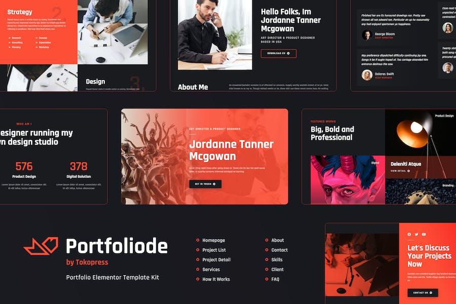 Portfoliode | Portfolio Elementor Template Kit