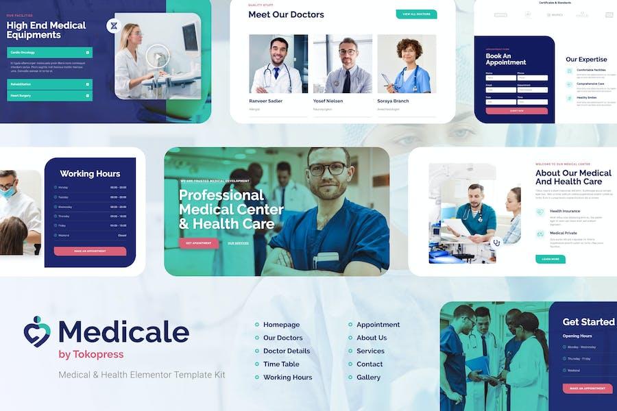 Medicale   Медицинский и Медицинский Элементор Template Kit