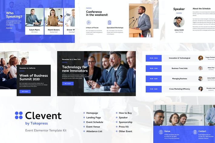 Clevent | Event Elementor Template Kit