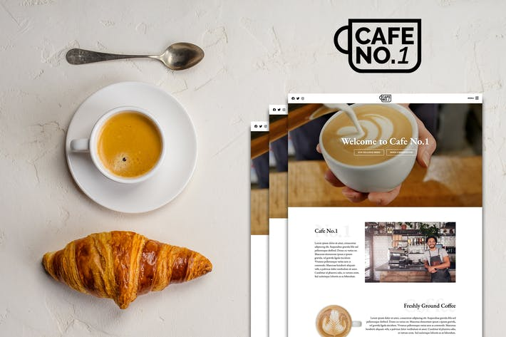 Thumbnail for Cafe No.1 - Cafe & Restaurant Template Kit