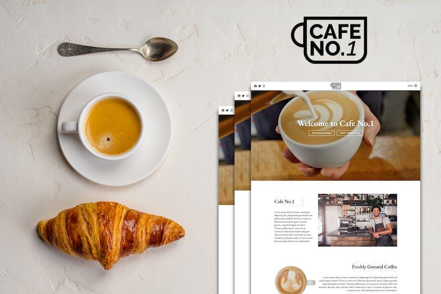 Cafe No.1 - Cafe & Restaurant Template Kit
