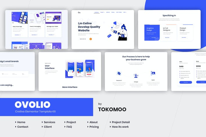 Thumbnail for Ovolio - Creative Elementor Template Kit