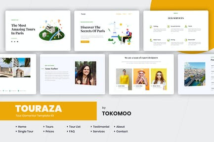 Touraza | Travel & Tour Agency Elementor Template Kit