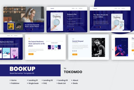 Bookup | Book Store Elementor Template Kit