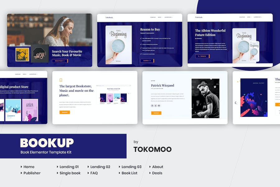 Bookup   Book Store Elementor Template Kit