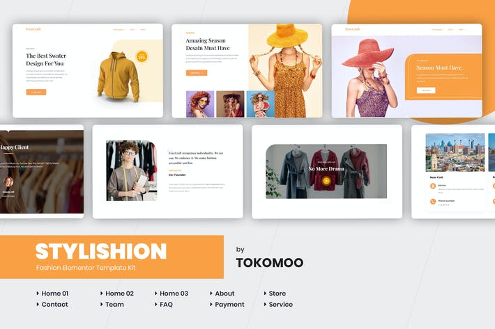 Cover Image For Stylishion | Fashion Elementor Template Kit