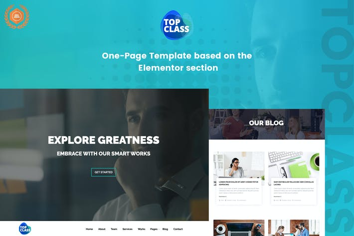 Thumbnail for TopClass - Business & Agency Template Kit