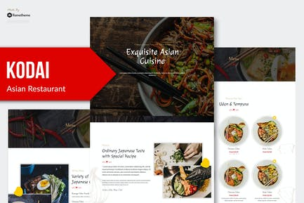Kodai - Asian Restaurant Elementor Template Kit