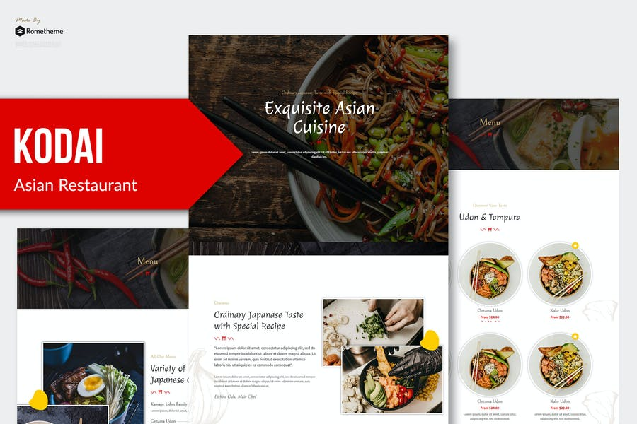 Kodai - Template Kit restaurante asiático Elementor