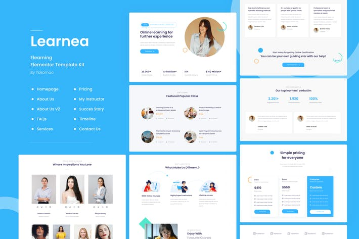 Thumbnail for Learnera | e-Learning Elementor Template Kit