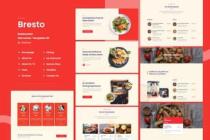 Bresto | Restaurant & Cafe Food Elementor Template Kit