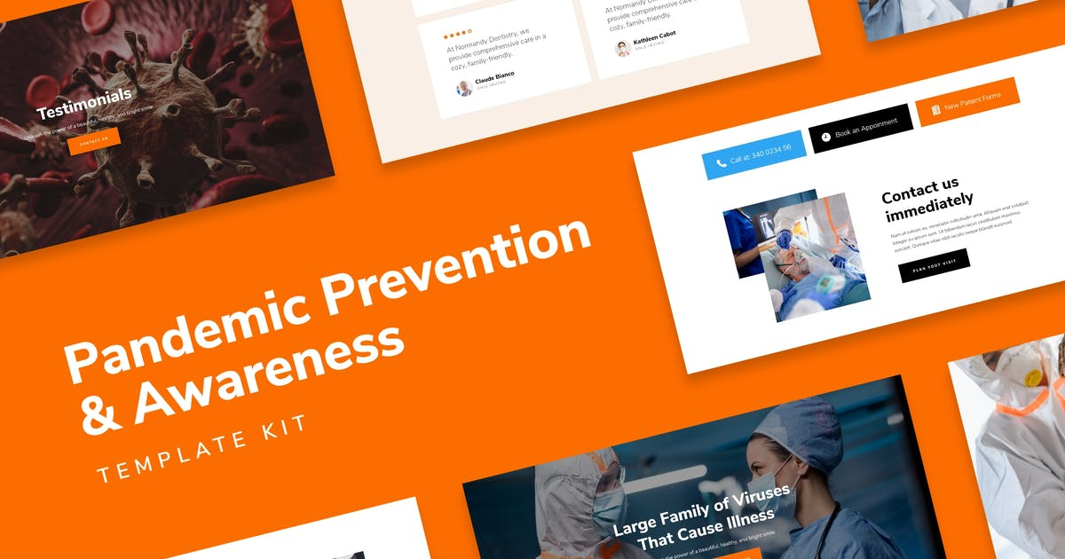 Download SafetyKit - Pandemic Prevention & Awareness Template Kit by AncoraThemes