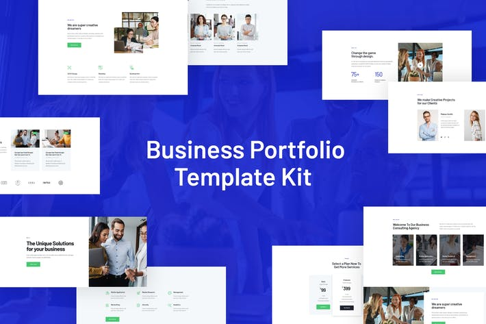 Thumbnail for Rhodos - Business Portfolio Elementor Blocks & Template Kit