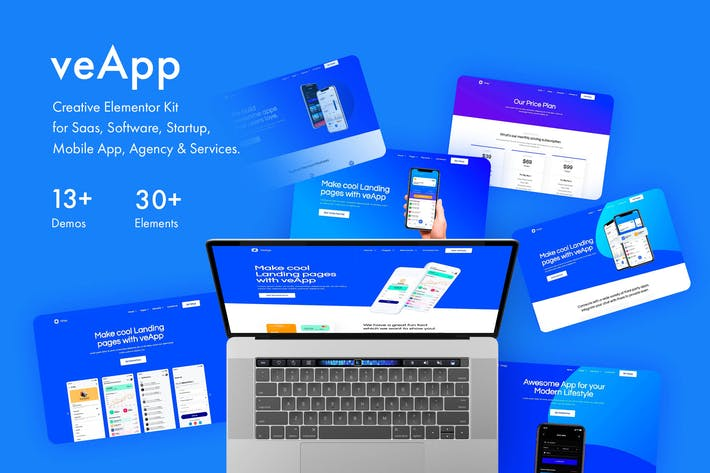 Thumbnail for veApp - Mobile Startup Template Kit