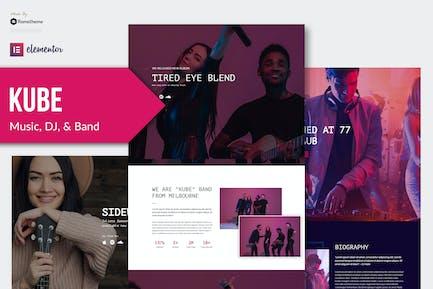 Kube - Music Elementor Template Kit